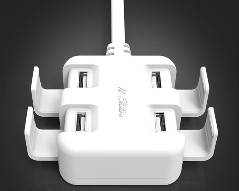 25W 5.4A 4-Port Family-Sized High Speed Desktop USB Charger Wall Charger