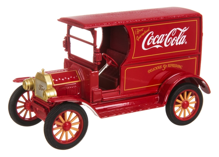Coca Cola 1917 Ford Model T Red 1 24 Scale Diecast Model