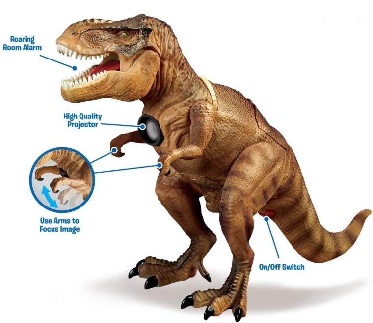Dinosaur T-Rex Room Guard with Motion Sensor