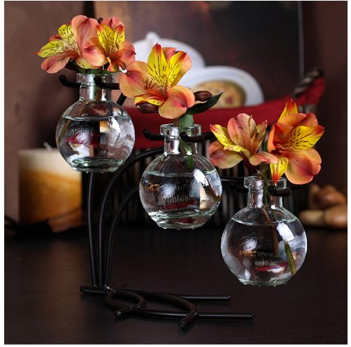 Vintage Glass Ball Floral