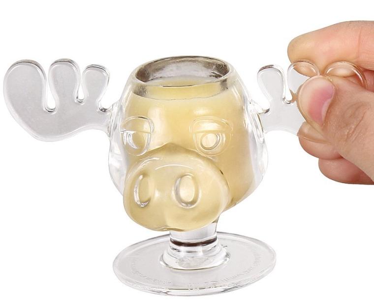 Walley World Moose Mug Shot Glasses