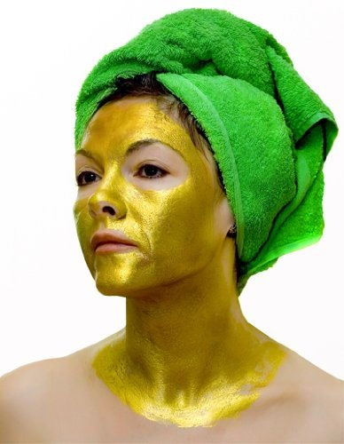 24k Gold Active Face Mask Brightening Powder Luxury Spa Anti Aging Treatment