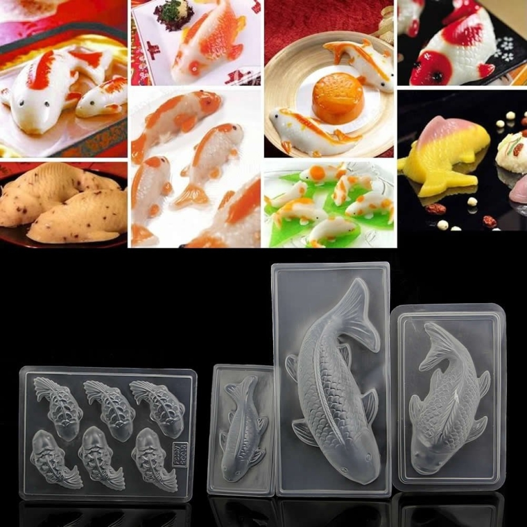 3D Koi Fish Plastic Cake Chocolate Mould