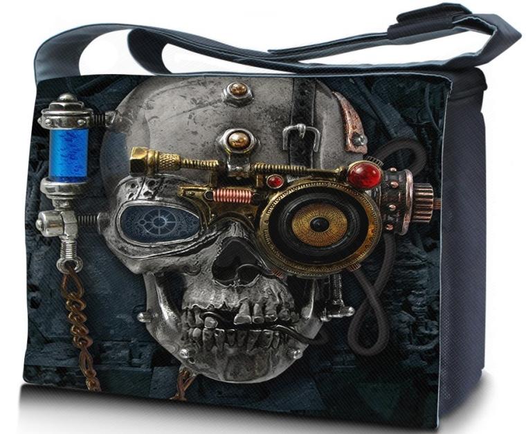 Alchemy Gothic Necronaut 15 Lap to bag Messenger Bag