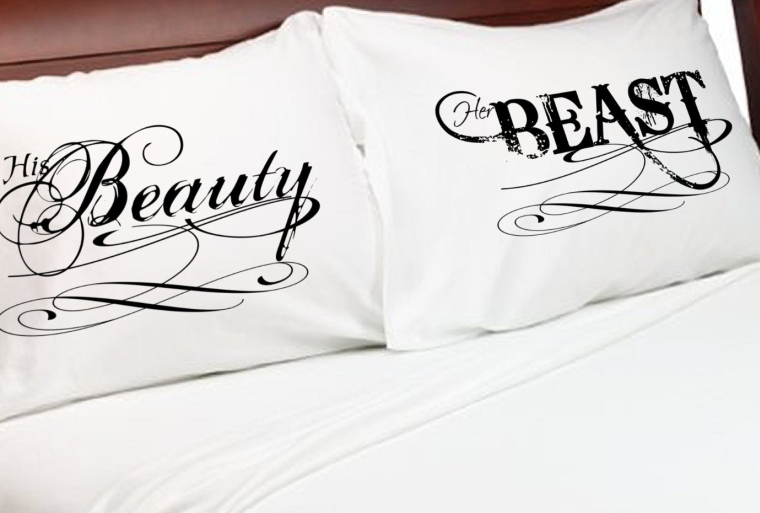 Beauty and the Beast Couples Pillow Cases