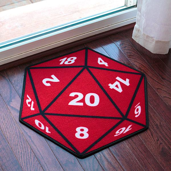 Critical Hit D20 Doormat