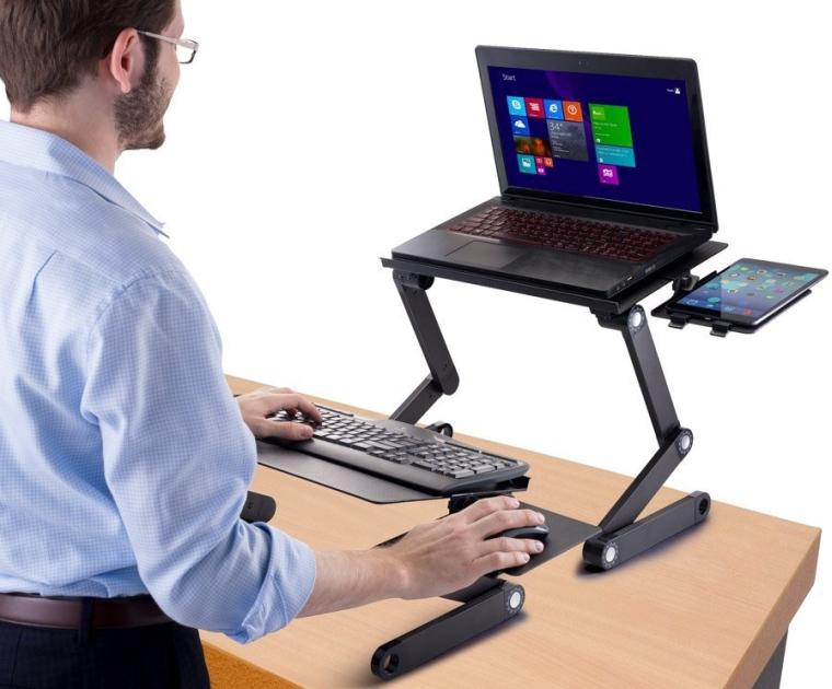 Desk Adjustable Sit Stand Desk for Laptops