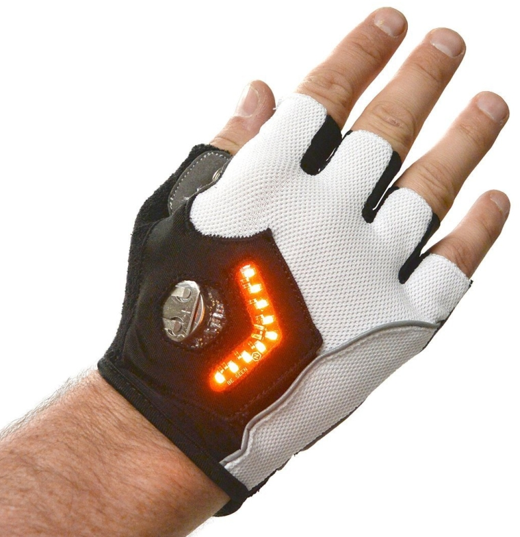 Gloves for Cycling with Ultrabright Rechargeable Pack