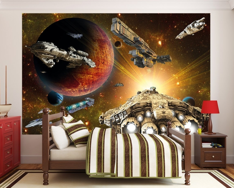 Spaceship in the Universe Photo Wallpaper