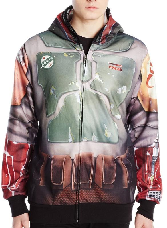 Star Wars Men's Real Boba Sublimated Costume Fleece
