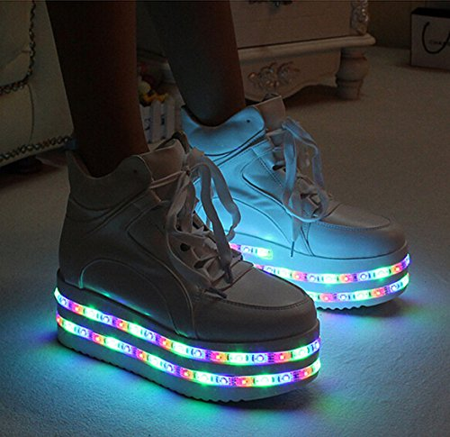 shoes with multicolors USB rechargeable