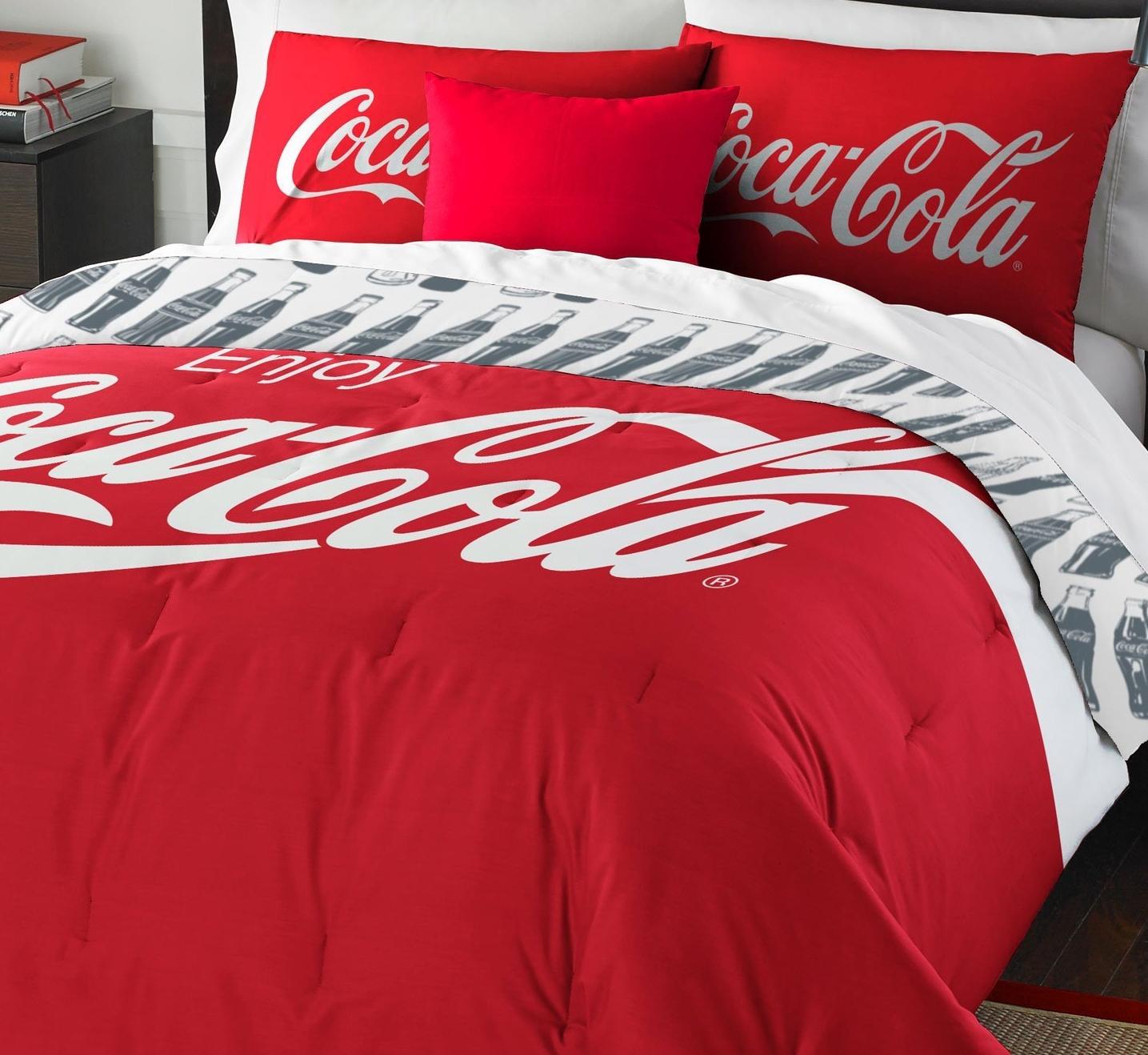 Coca-Cola Logo Twin Bedding Set