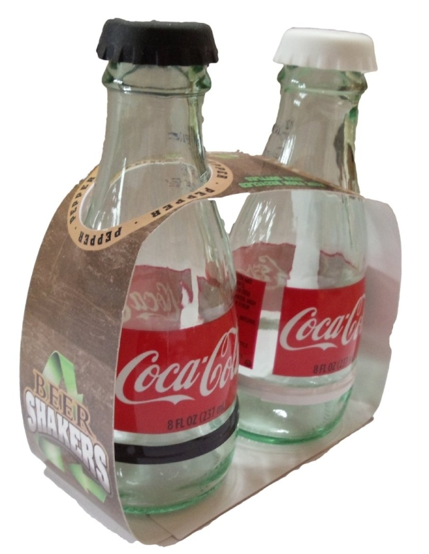Coca-cola Recycled Glass Salt and Pepper Shaker Set