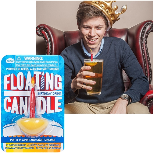 FLOATING BIRTHDAY DRINK CANDLE
