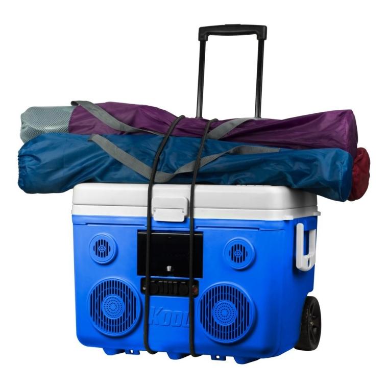 KoolMAX Bluetooth 350 Watt Bluetooth Portable PA Speaker (Blue)