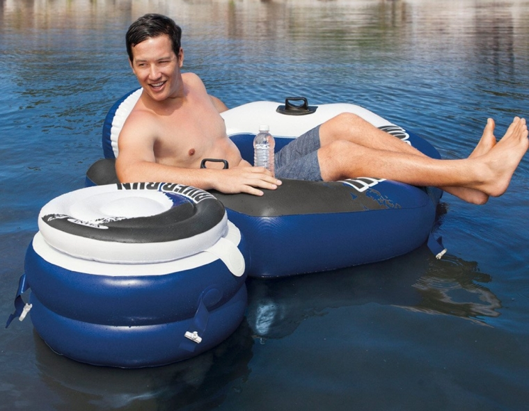 Lounge Inflatable Floating Water Tubes and Cooler
