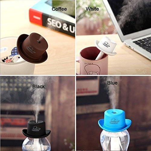Mini Cute Mute USB Powered Water Bottle Cap Mist Autumn Winter Home Office