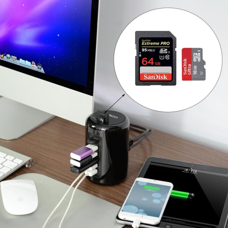 MoKo 6-Port High-speed USB 3.0 Hub