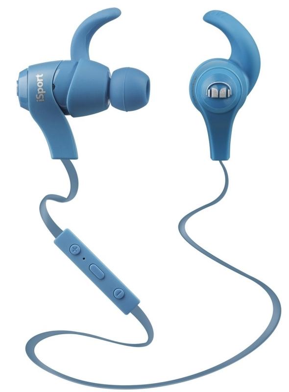 Monster iSport Bluetooth Wireless In-Ear Headphones- Blue