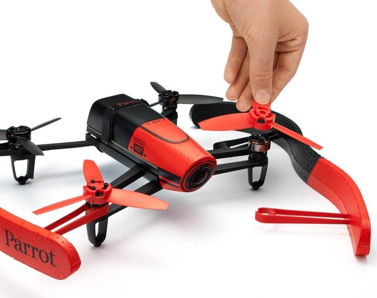 Parrot Bebop Drone 1400 megapixel quad Copter with a fish-eye lens camera