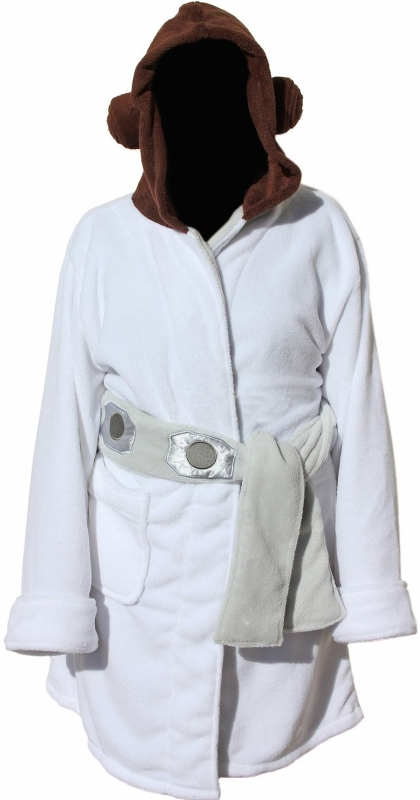 Star Wars Princess Leia Womens Fleece Bathrobe and Swim Suit Cover Up