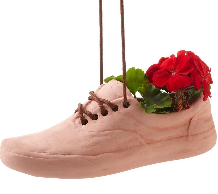 terracotta shoe planter