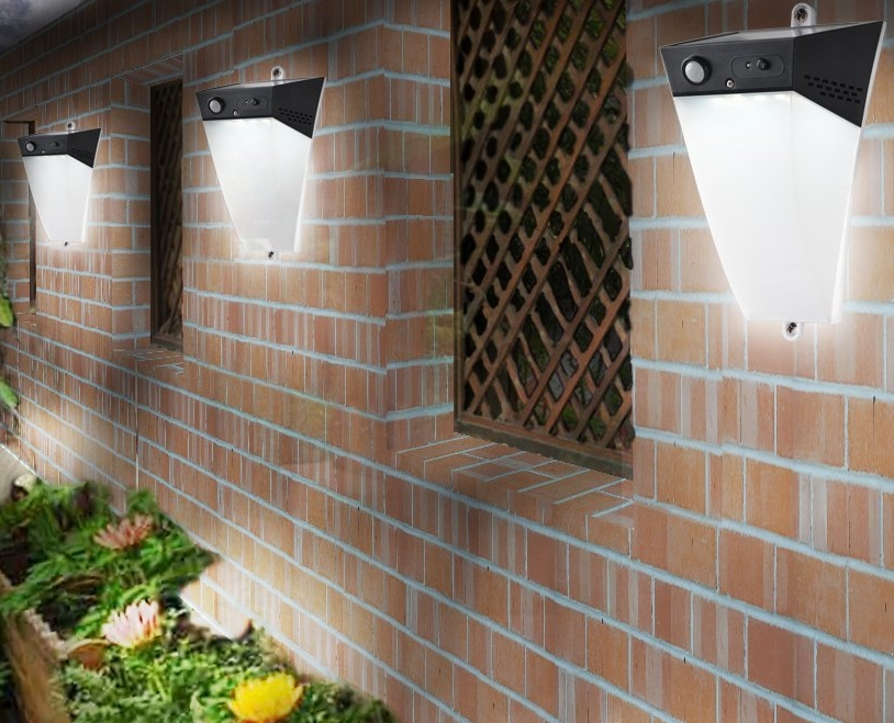 Easy to install Solar Motion Garden Warning Light LED Security lamp With Super Bright