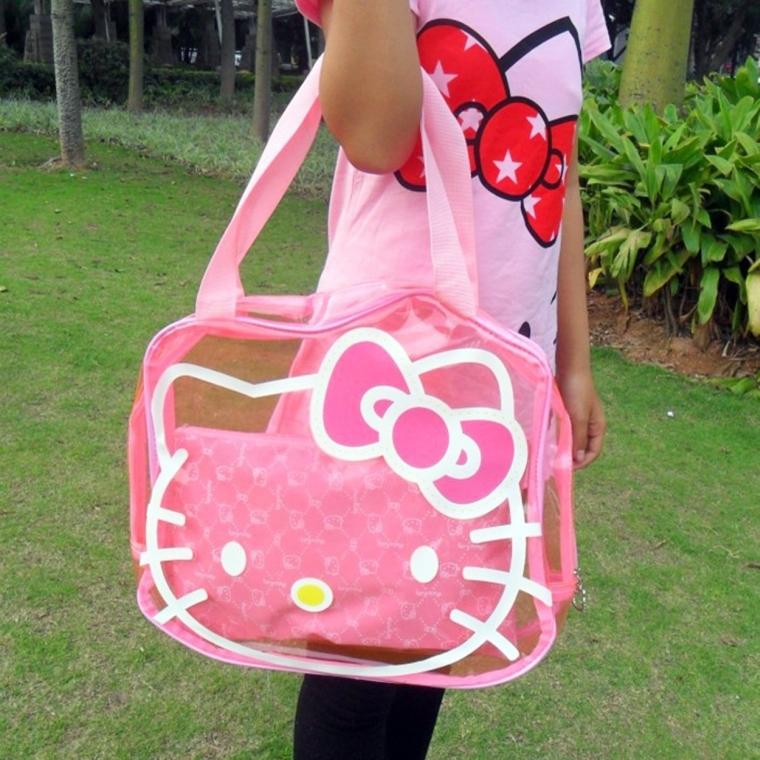Hello Kitty Roomy Travel Bag Carry Holdall Handbag