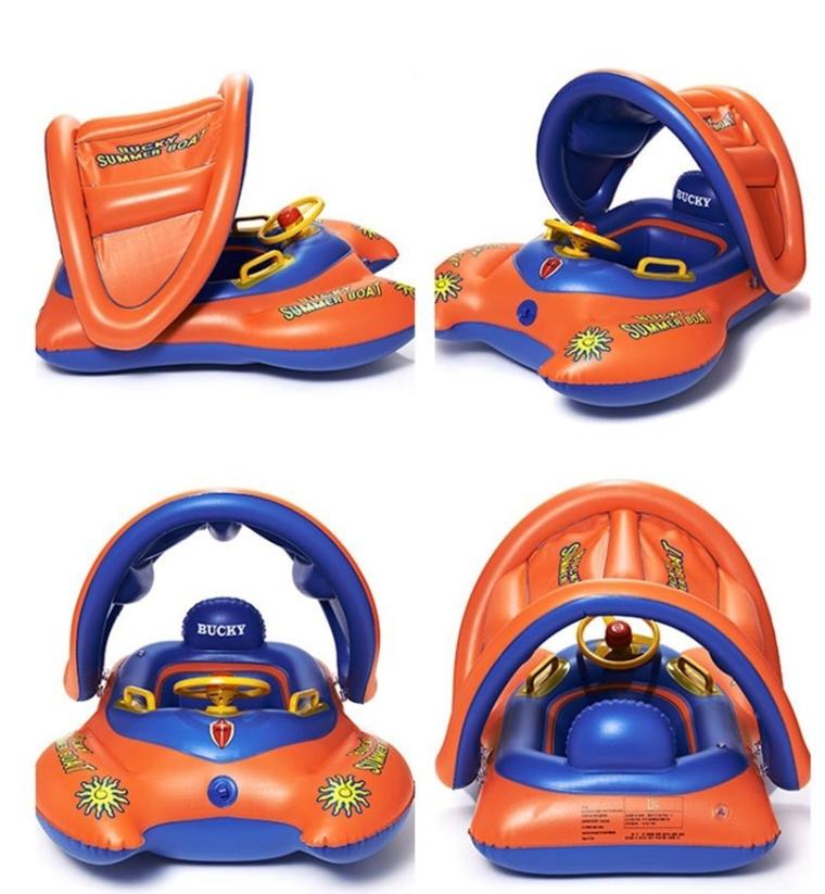Kid Children Baby Infant Summer Beach Canoe Boat