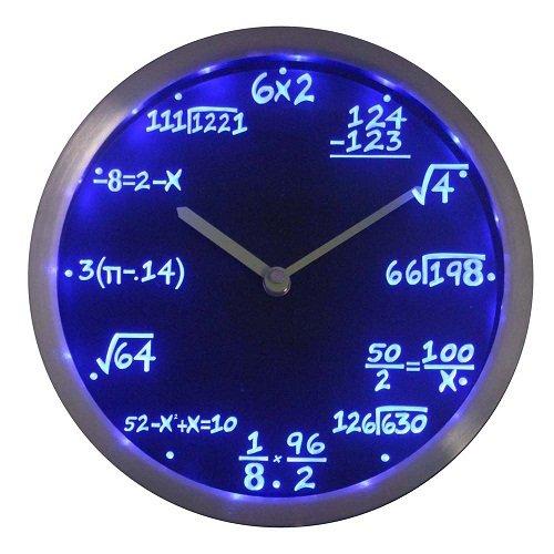 Math Class  LED Wall Clock