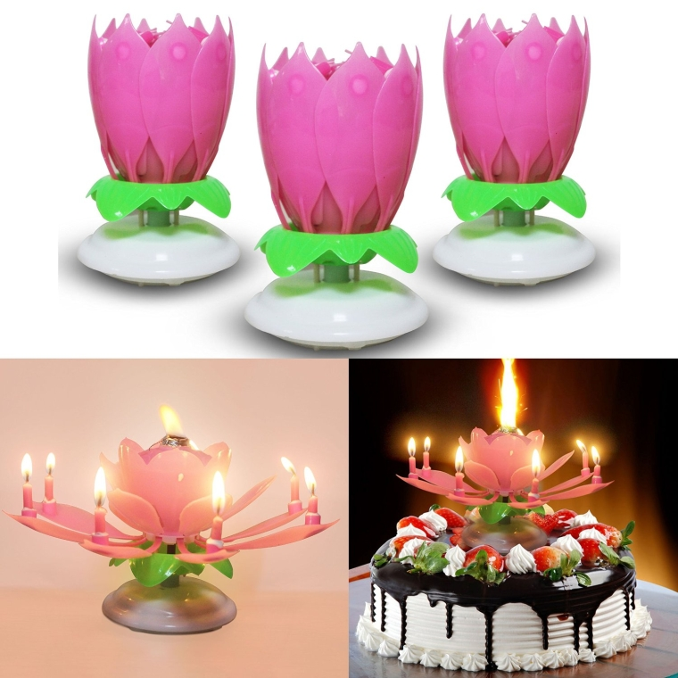The Magical Singing Flower Happy Birthday Candle