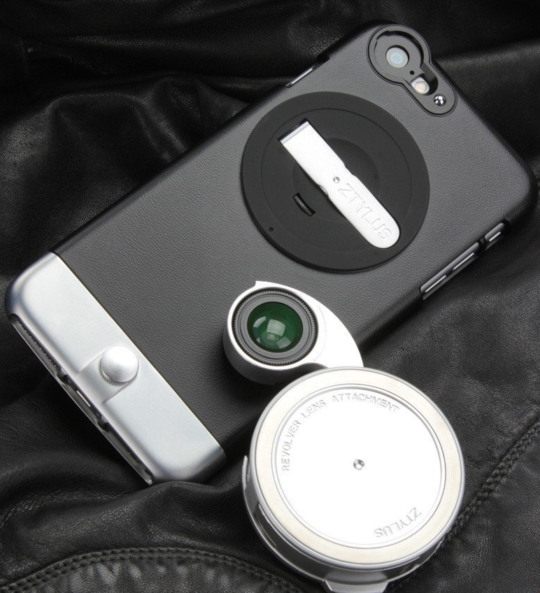 Ztylus Metal Smartphone Case With Kickstand and RV-2 Revolver 4-In-1 Lens Attachment