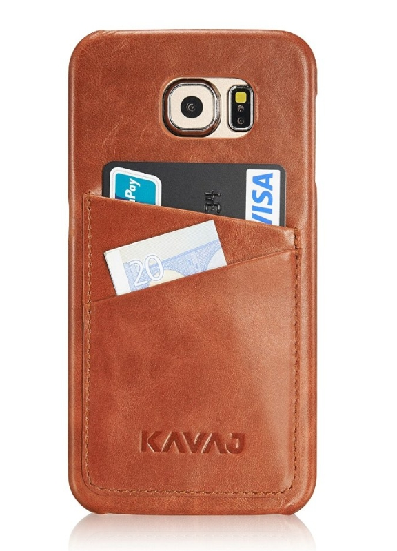 case back cover Tokyo for the Galaxy S6 cognac brown