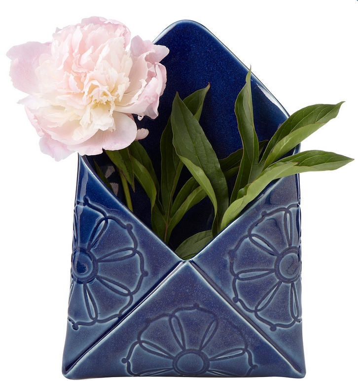 envelope wall vase