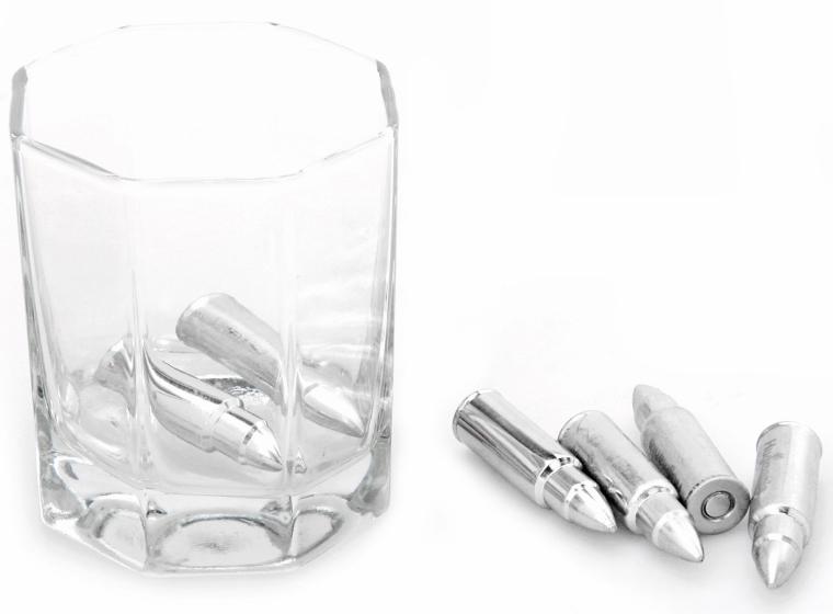 1. Bullet Shaped Stainless Steel Set of 6 Whiskey Stones