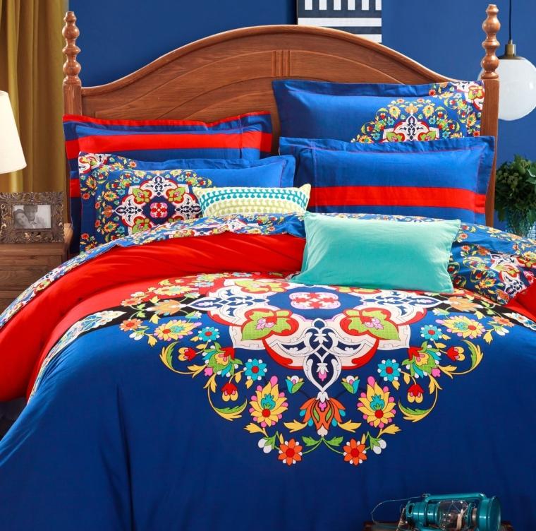 4-Piece Bohemian Bedding Boho Bedding Set Full Queen Size