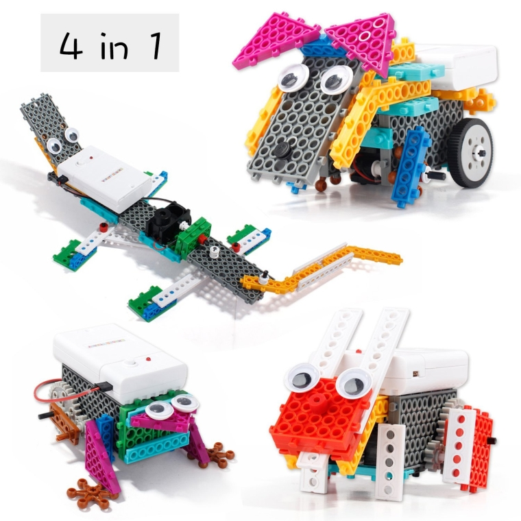 4-in-1 Educational Remote Control RC Roberts Toy Building Blocks Kit Sets