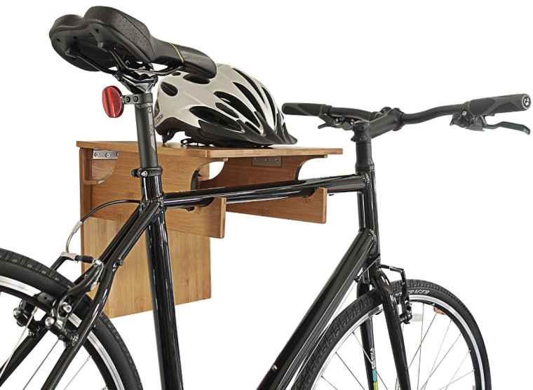 Bamboo Fold-away Bike Rack  Great Rack for Storing Your Bicycle By COR Board Racks