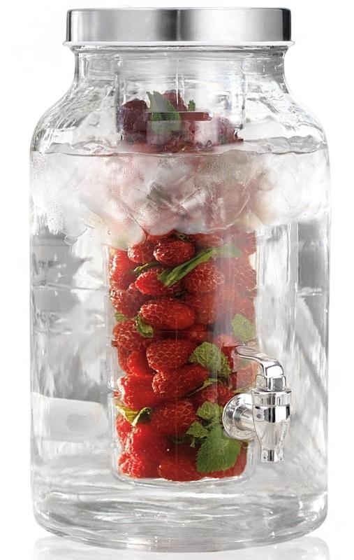 Beverage Drink Dispenser with Fruit Flavor Infuser