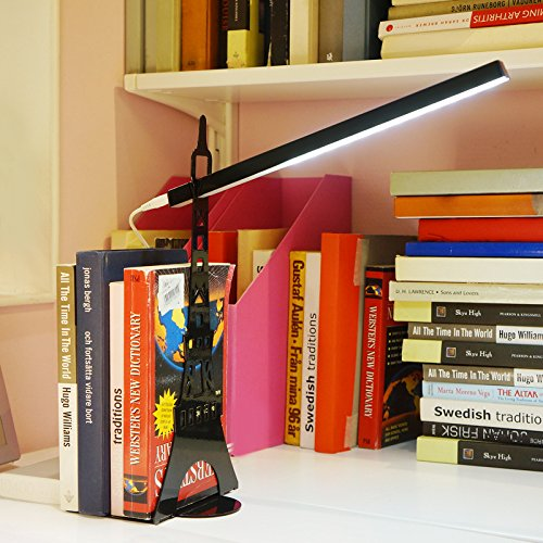 Book Light, Eiffel Tower Design, Flexible Neck Position, Touch-sensitive Controller