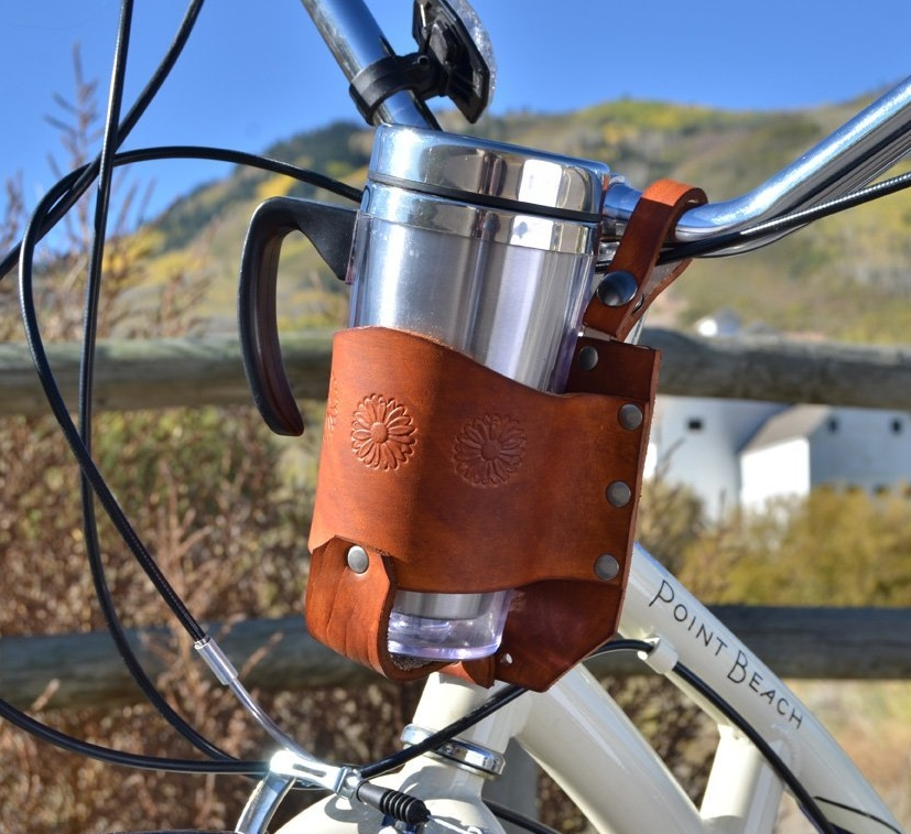 Brown Bicycle Cup Holder