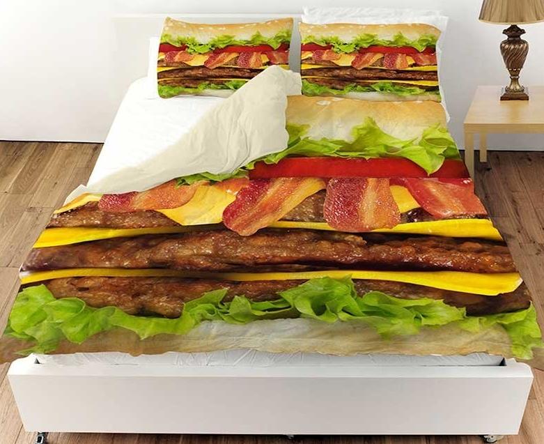 Cheeseburger Deluxe Queen Bedding Set Duvet