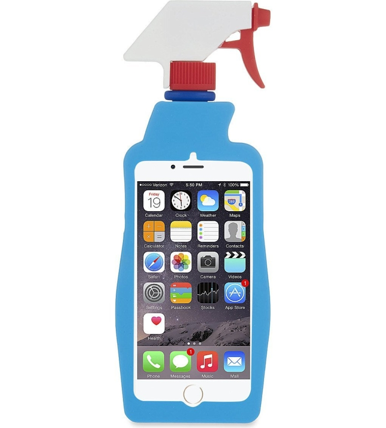 Cleaning Spray Bottle Silicone Case for Apple IPhone 66S Plus 5.5