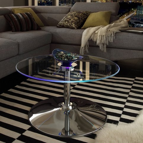 INSPIRE Q Lorin Cool Round Glass Coffee Table