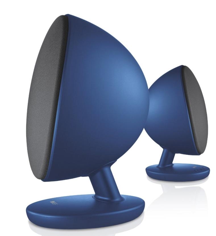 KEF EGG Digital Hi-Fi Speaker System - Frosted Blue (Pair)