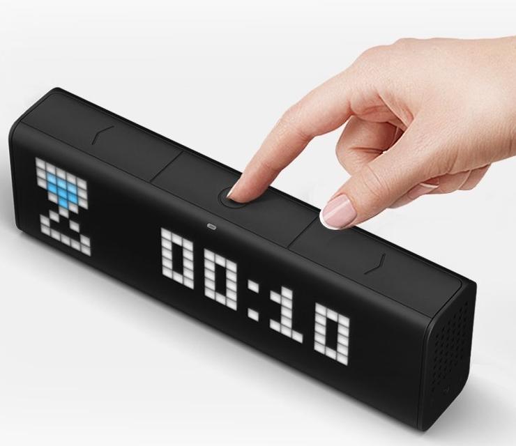 LaMetric LM 37X8 LaMetric Portable Wi-Fi Alarm Clock with Apps