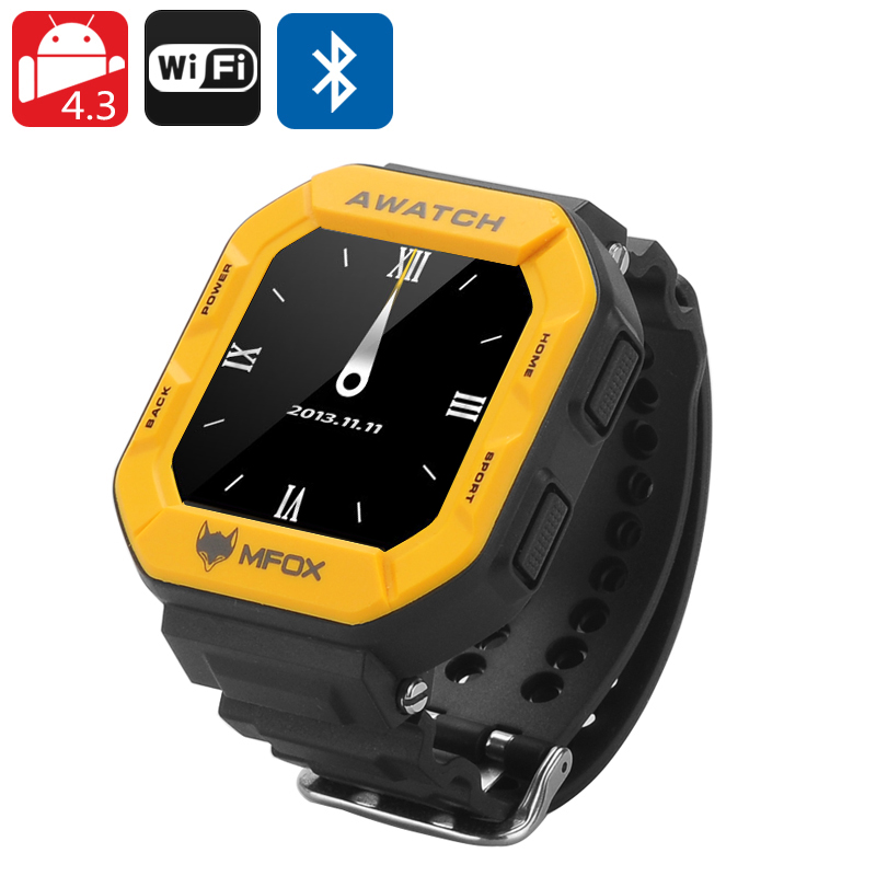 MFOX AWATCH - IP68 Heart Monitor Watch, Android 4.3 OS, Bluetooth 4.0