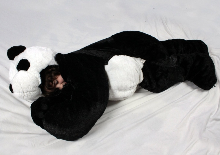 Panda children's stuffed animal sleeping bag. GIANT!! 66 inches tall
