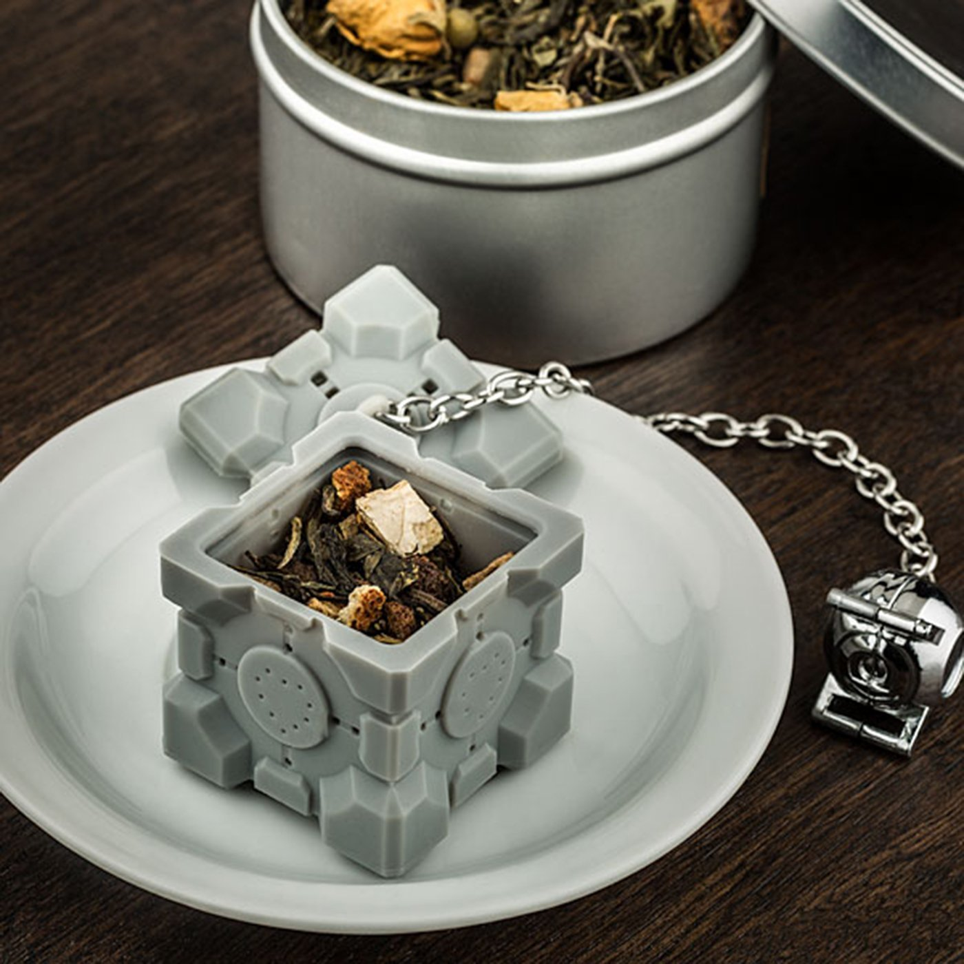 Portal 2 Companion Cube Tea Infuser