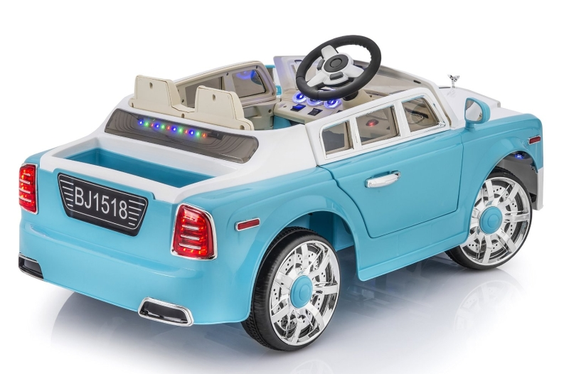 Rolls Royce Phantom Style 12v Ride on Car for Kids with Remote Control- Blue